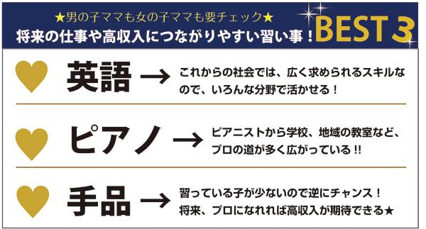 オススメ習い事BEST3!【将来、高収入かも♥編】_2