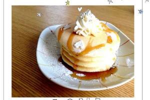 モチモチ食感♪+αの「リッチパンケーキ」