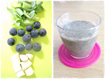 秋のフルーツをフルmix♥野菜不足に即楽スムージー_4