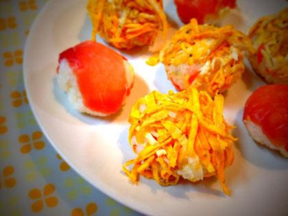 晴れの日にピッタリなレシピキュートな『手まり寿司』♪_1