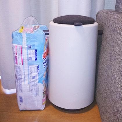 市販のビニール袋で臭わないおむつゴミ箱「プーポット」_5
