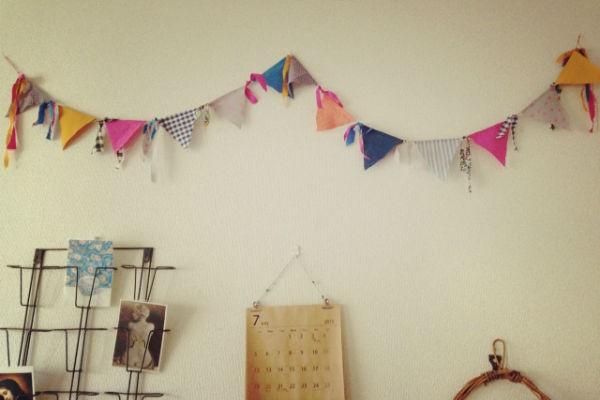 お誕生日やインテリアに簡単おしゃれなガーランドの作り方