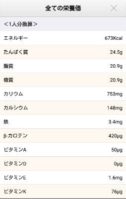 ソラレピ 栄養価