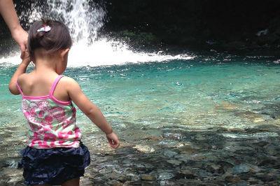 子連れ旅行 陣馬の滝
