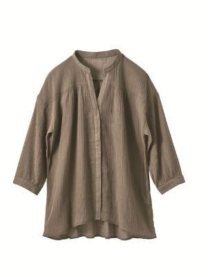 マオカラーシャツ 遮熱