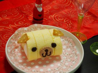 クリスマススイーツ どうぶつデコケーキ