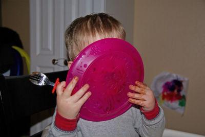 子どもの写真 食事