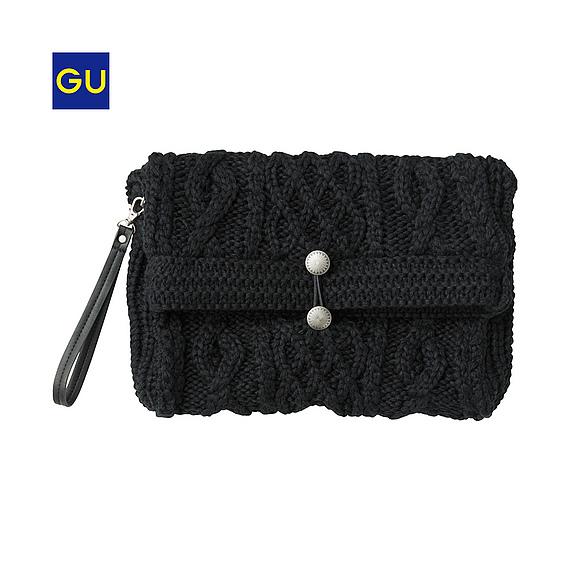 gu clutch bag black