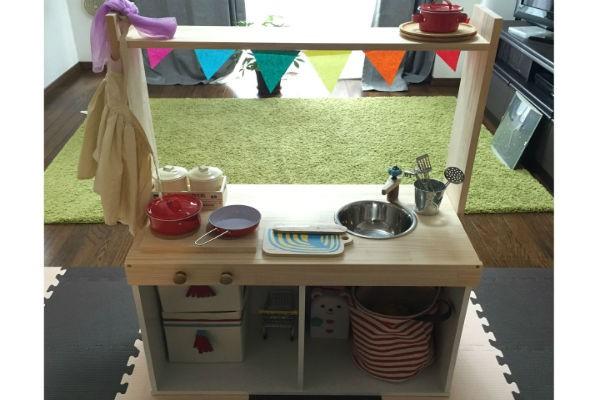 DIY初心者ママでもできた!ノコギリ要らずの簡単な『おままごとキッチン』の作り方