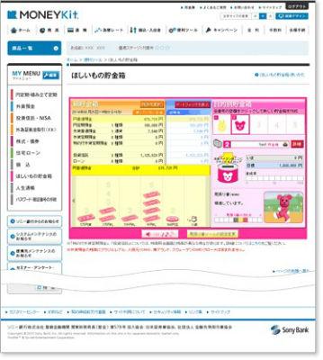ソニー銀行 MONEYkit