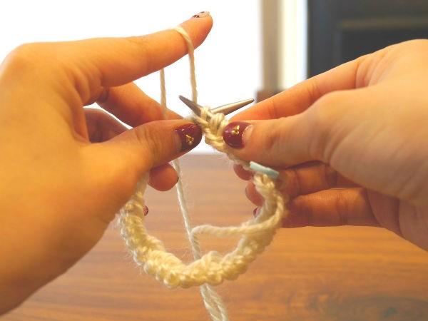 輪針編み7