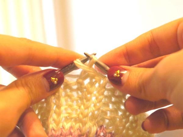 輪針編み12
