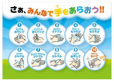 正しい手洗い手順