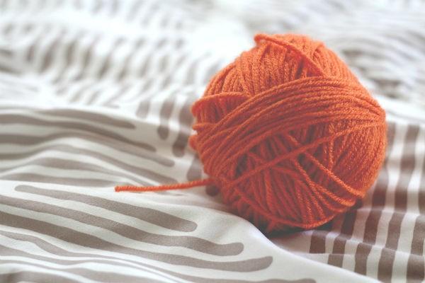 輪針編み リストウォーマー
