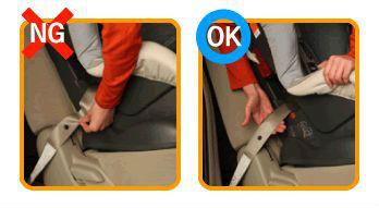 チャイルドシートの正しい着け方1