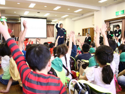 「子ども110番」親子探検教室