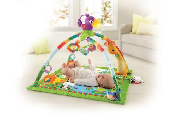 赤ちゃんの発育に良いことがいっぱい!フィッシャープライスの『レインフォレスト・デラックスジムⅡ』をプレゼント♪