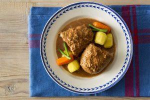 【簡単!おいしい!ポリ袋レシピvol.3】子どもが大好き定番メニュー『豆腐の煮込みハンバーグ』『ヨーグルトポテトサラダ』の作り方