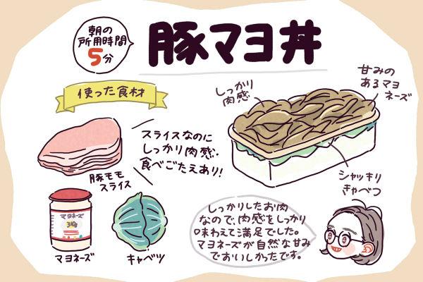 あい子 豚マヨ丼弁当